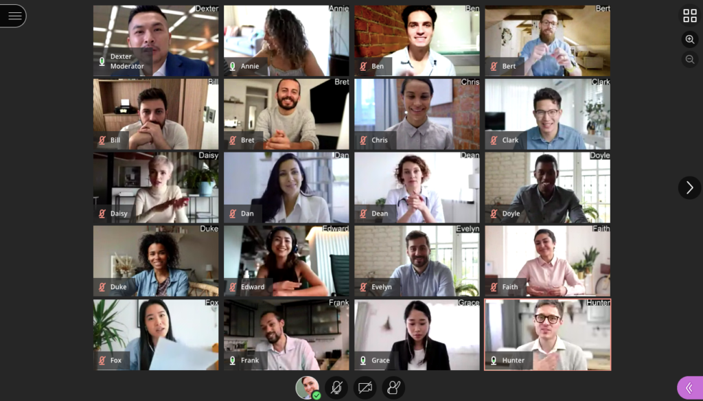 Screenshot of Blackboard Collaborate Ultra Video Gallery